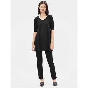 Elieen Fisher Black Viscose Jersey Tunic